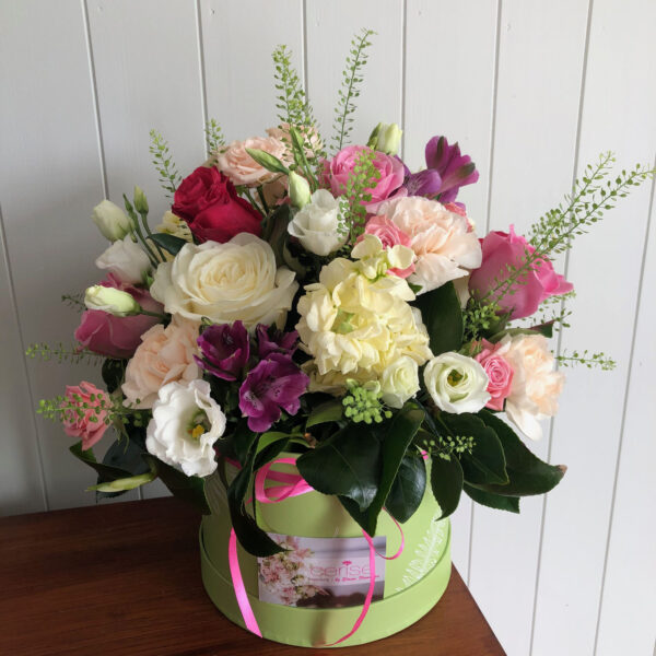 Cerise Flowers Tramore Hatbox Bouquet Delivery Waterford Hatbox3