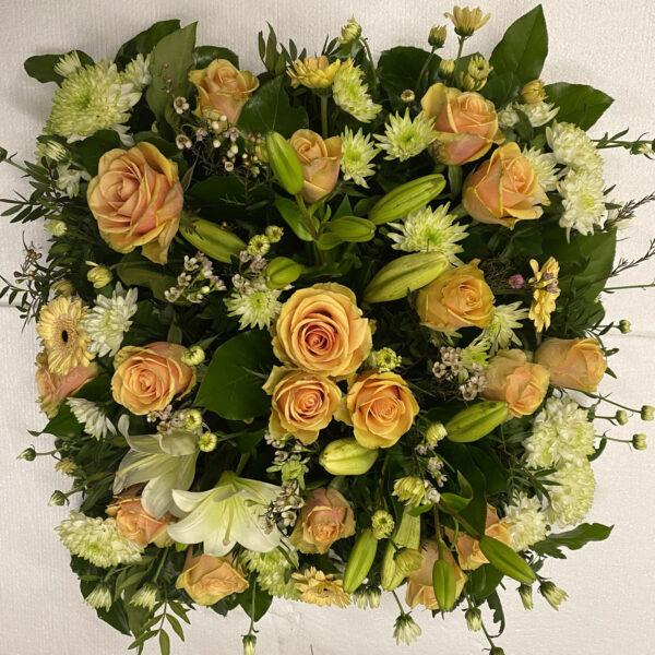Funeral flowers Tramore Waterford heart florist tramore cerise flowers (10)