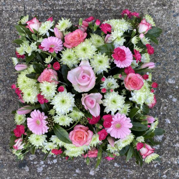 Funeral flowers Tramore Waterford heart florist tramore cerise flowers (9)
