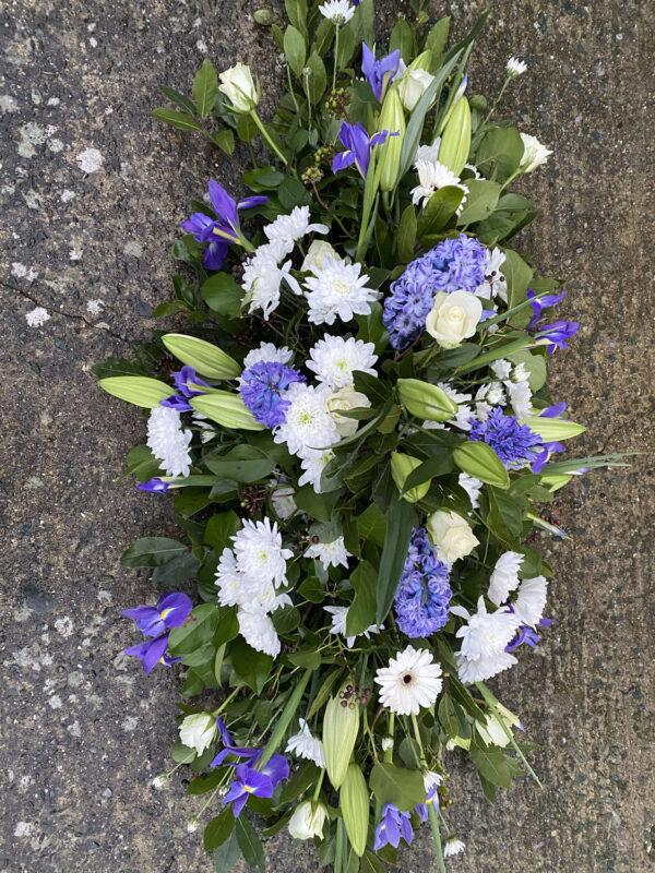 Funeral flowers Tramore Waterford spray florist tramore cerise flowers (10)