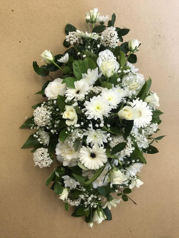 Funeral flowers Tramore Waterford spray florist tramore cerise flowers (6)