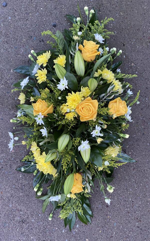 Funeral flowers Tramore Waterford spray florist tramore cerise flowers (8)