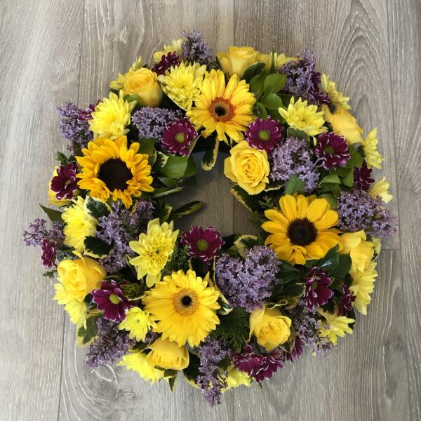Funeral wreath Tramore Waterford flowers florist tramore cerise flowers (1)