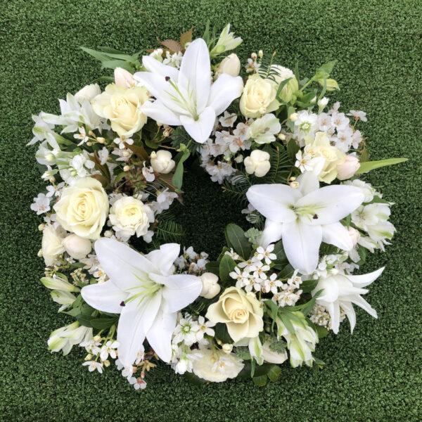 Funeral wreath Tramore Waterford flowers florist tramore cerise flowers (3)
