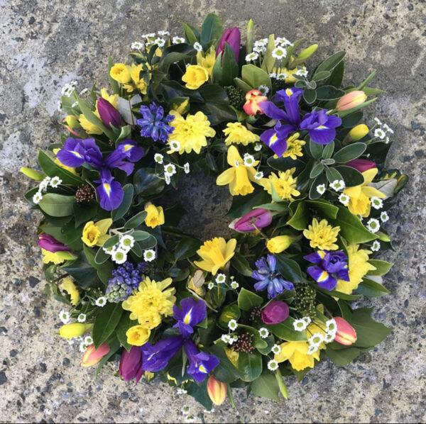 Funeral wreath Tramore Waterford flowers florist tramore cerise flowers (4)